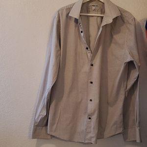 Express slim fit button up shirt